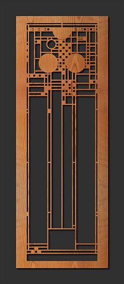 Decorative Frank Lloyd Wright Designed Laser Cut Wood