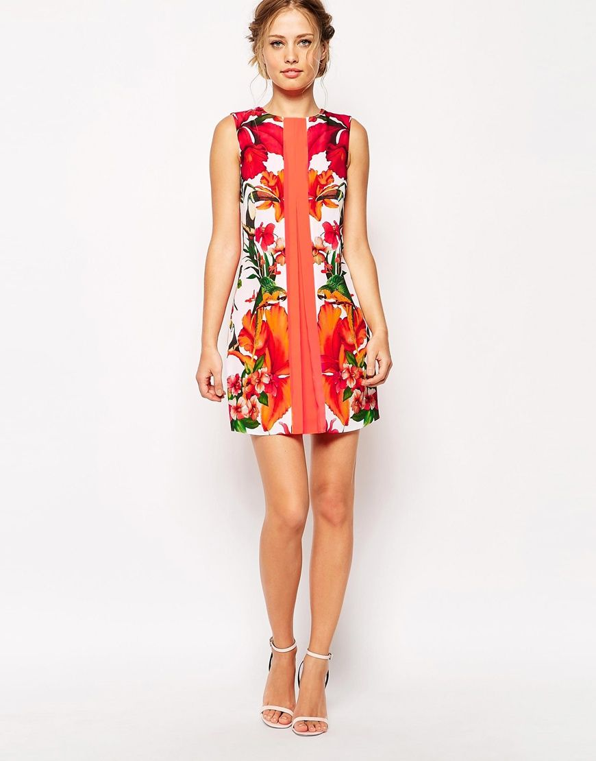 aebefbf180e023 Image 4 of Ted Baker Tunic Dress in Tropical Toucan Print