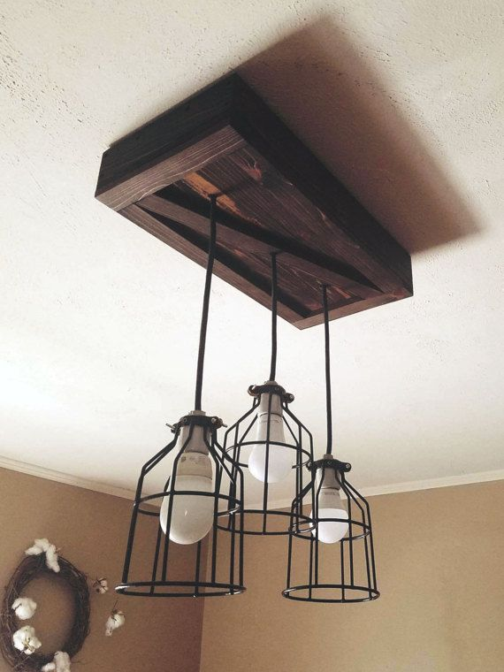 cage light chandelier rustic chandelier rustic by misandme on etsy