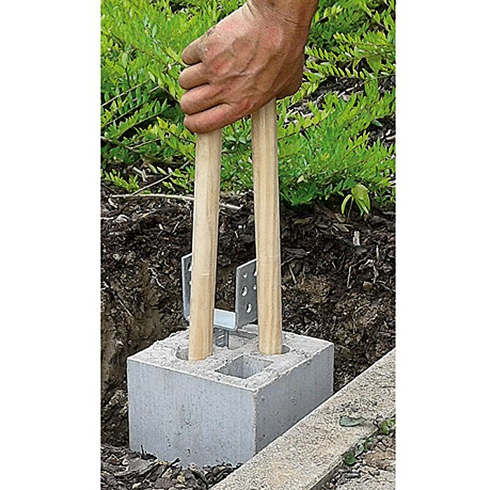 Zaun Fundamentstein 4in1 Grau 19 X 19 X 25 Cm Beton Fundamentsteine Zaun Steine