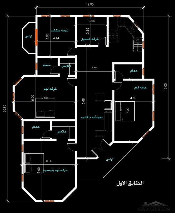 فيلا صغيرة المساحه 240 متر مربع بتصميم خاص لاحد العملاء Arab Arch Victorian House Plans Family House Plans Home Design Plans