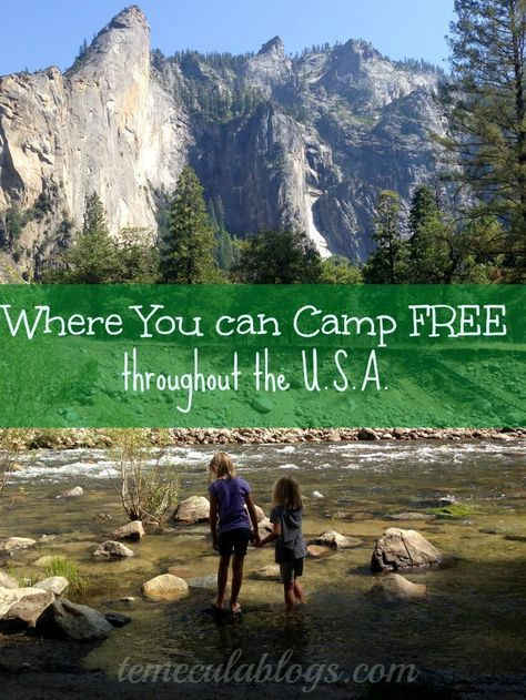 Places You Can Camp For Free Within The United States In A Tent Or An