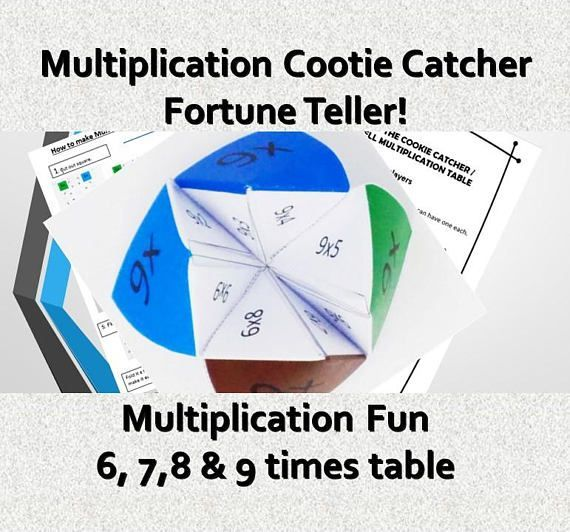 Instant Gifts Kids /Printable Cootie Catcher Template