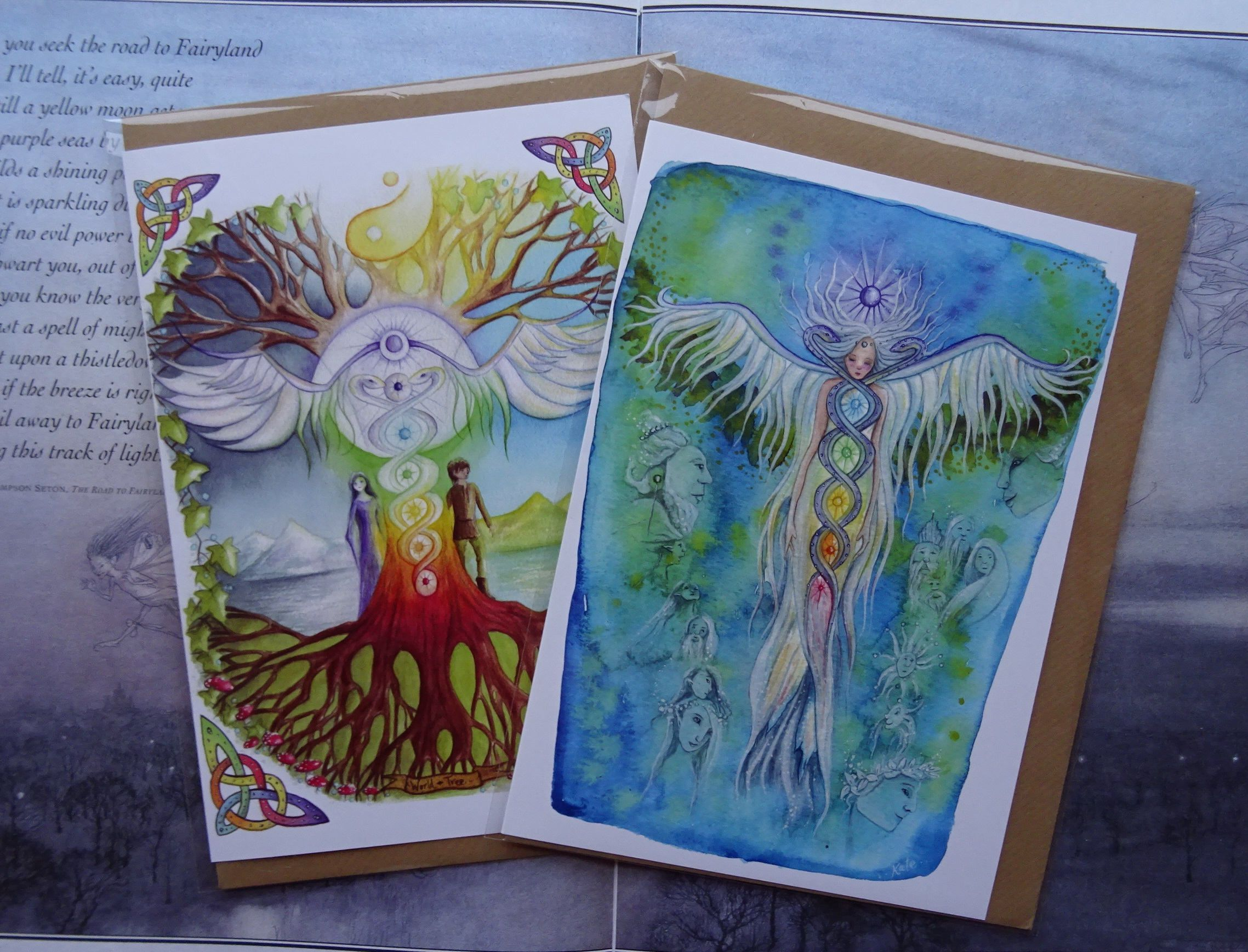 Rainbow chakra pack of 2 a5 art cards greetings cardschakra rainbow chakra pack of 2 a5 art cards greetings cardschakra world tree celtic art angel art spiritual art new age cards angel cards kristyandbryce Image collections