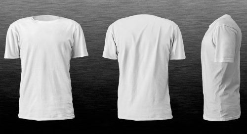 Download Realistic Blank Tshirt Template In White Color Hd Wallpapers Wallpapers Download High Resolution Wallpapers Baju Kaos Desain Web Desain Produk