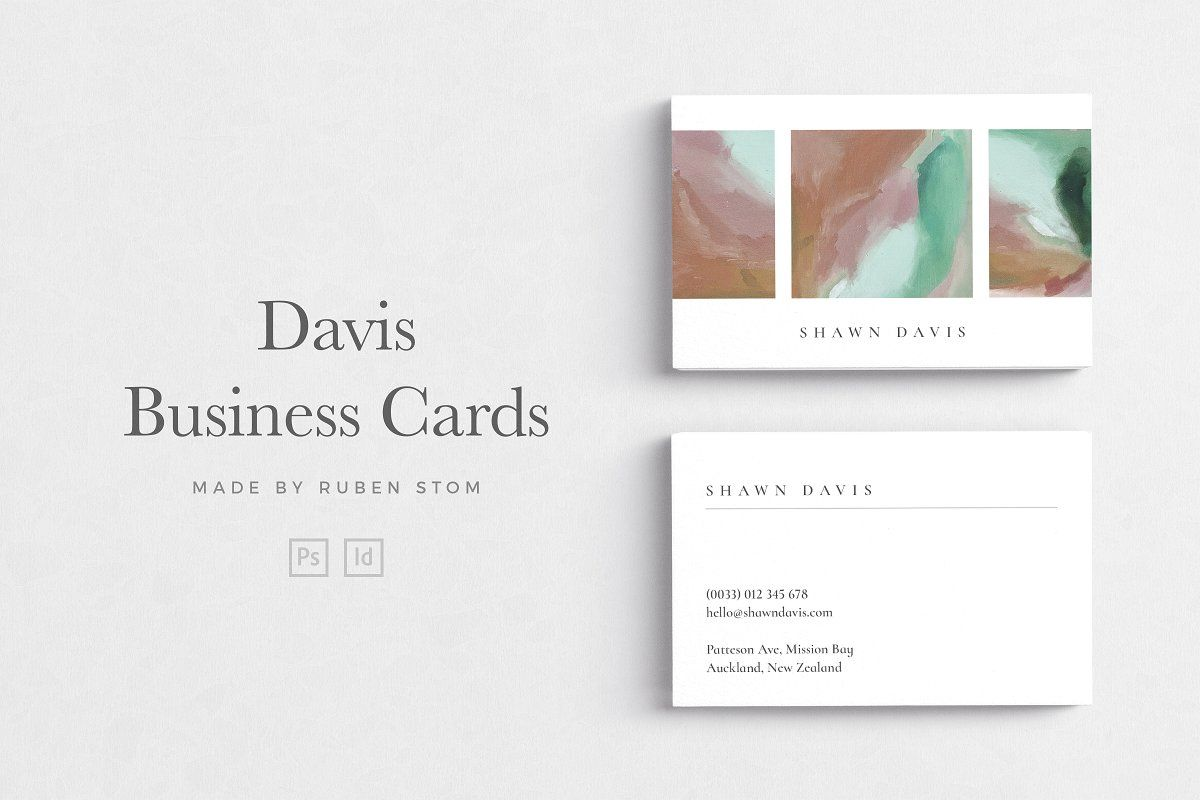 Business Card Size Ad Template