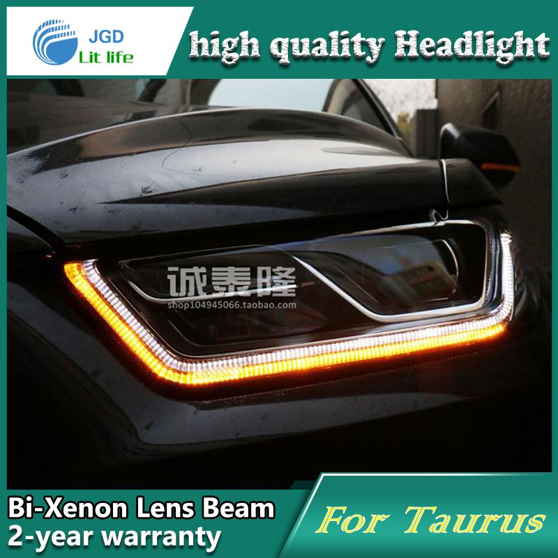 Car Styling Head Lamp Case For Ford Taurus 2013 2015 Headlights Led Headlight Drl Lens Double Beam Bi Xenon Hid Car Accessor Led Headlights Headlamp Headlights