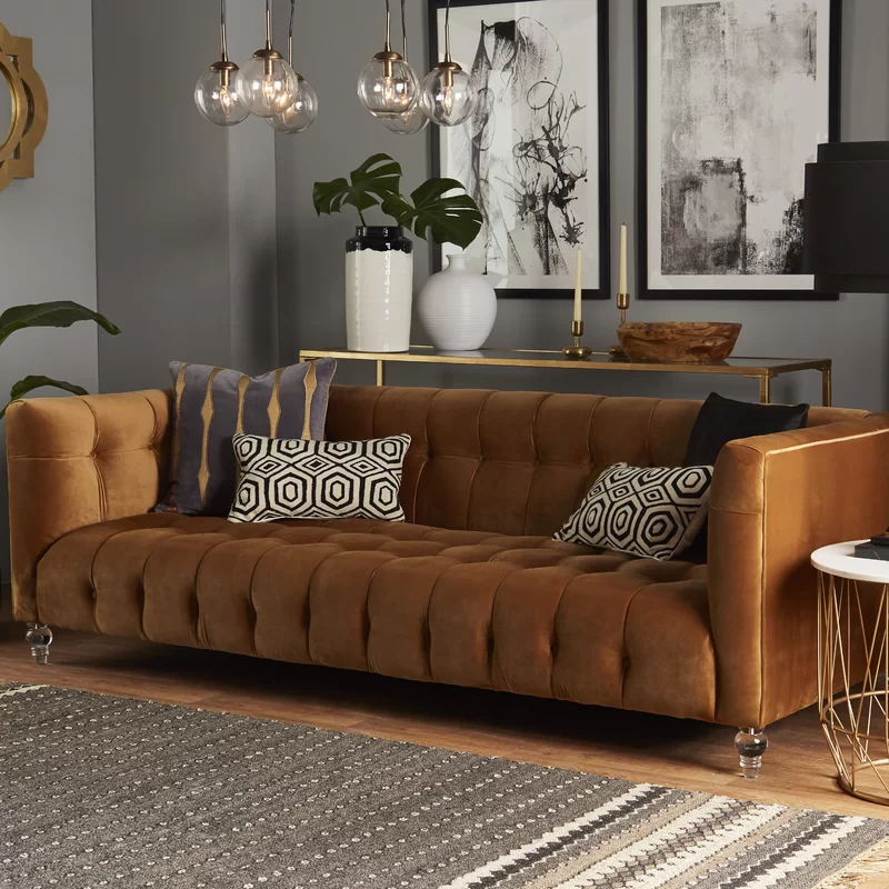 Best Pernilla Chesterfield Sofa Brown Living Room Brown 640 x 480