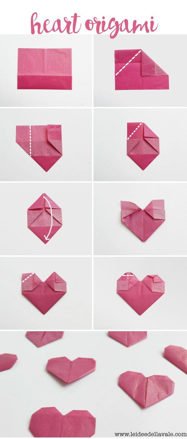 Origami Herz falten für deine DIY Geschenkverpackung