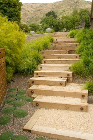 Step by Step DIY Garden Steps and Stairs Landscape timbers
