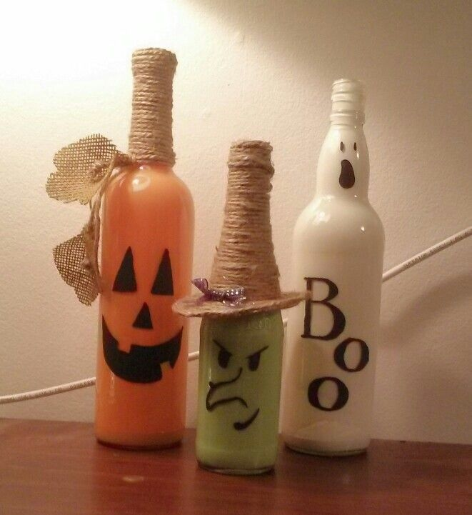 How To Decorate Wine Bottles For Halloween Fascinating Halloween Wine Bottles  Halloween  Pinterest  Bottle Wine And Inspiration Design