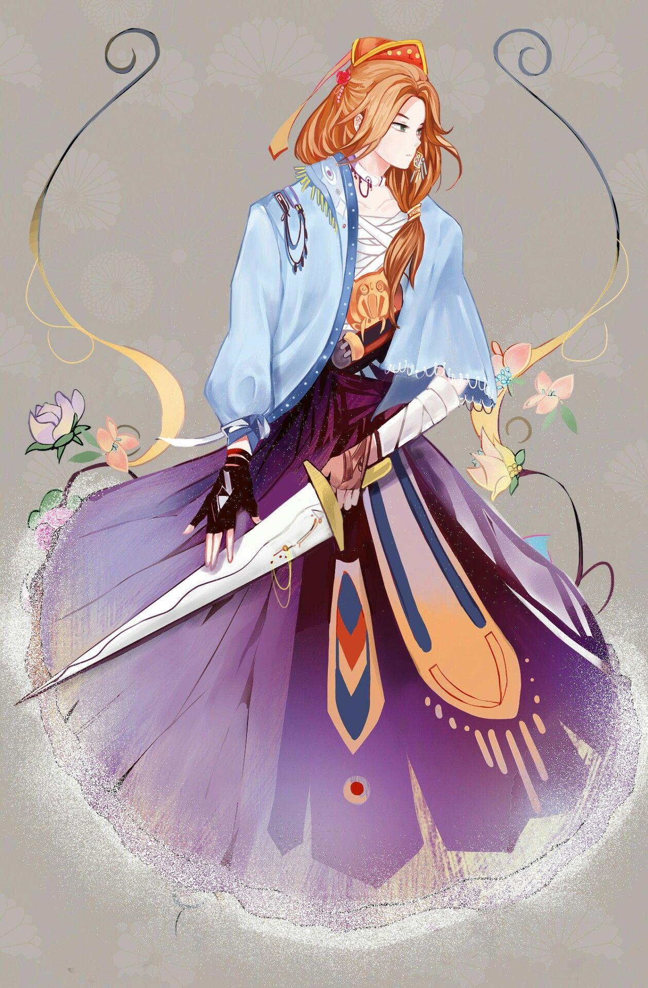 SooWon Akatsuki no yona, Akatsuki, Girl standing