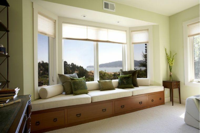 ventanas modernas con asiento para la habitación Asientos para