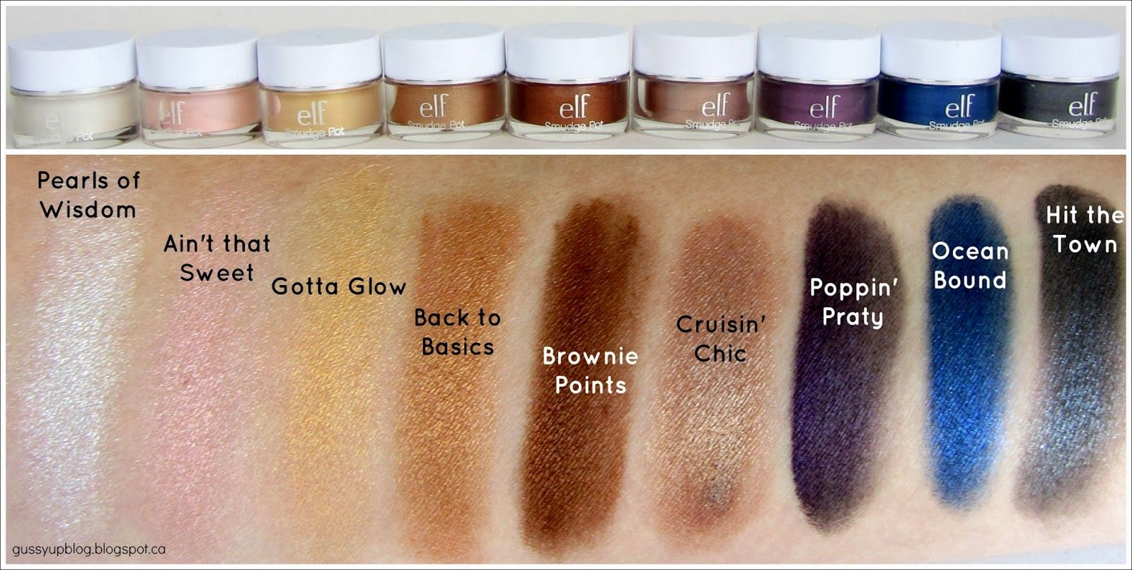 e.l.f. Essential Smudge Pot, Review and Swatches Elf