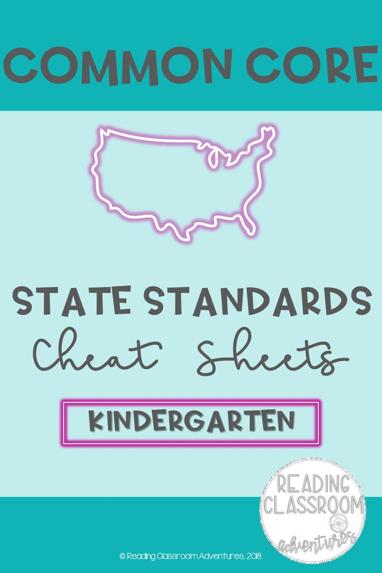 Common Core State Standards Cheat Sheets: Kindergarten ...