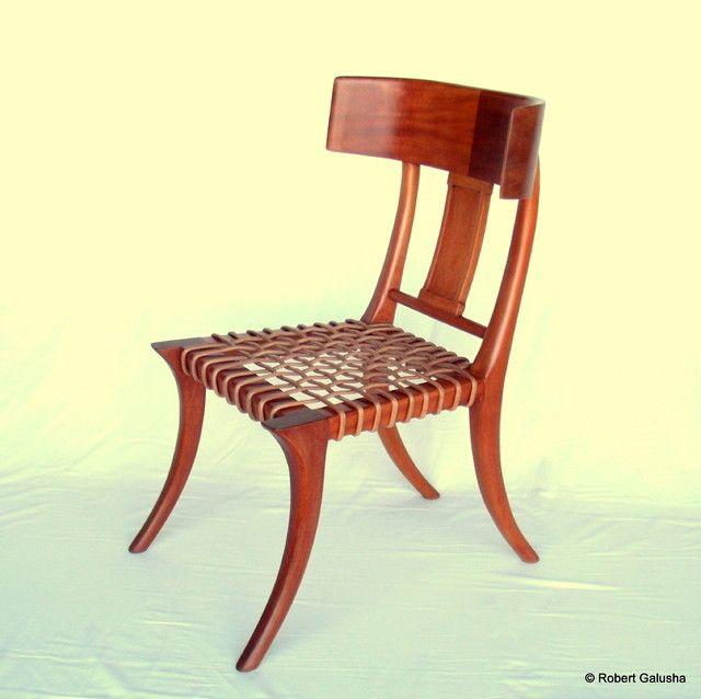 Klismos Chair In Mahogany Mediterranean Chairs