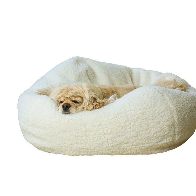 Have to have it. Carolina Pet Company Personalized Sherpa Puff Ball Pet Bed - $49.99 @hayneedle