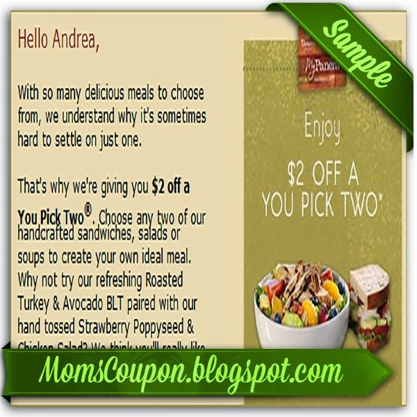 picture about Printable Panera Menu identified as Panera Bread 10 printable coupon code February 2015 Neighborhood