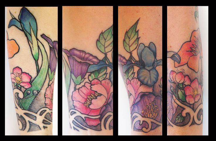 Tattoo Flowers Flowers Lower Tattoo Inspiration Flower Tattoos Art Nouveau Flowers Art Nouveau Tattoo Art Nouveau Flowers Vintage Flower Tattoo Arm Tattoo