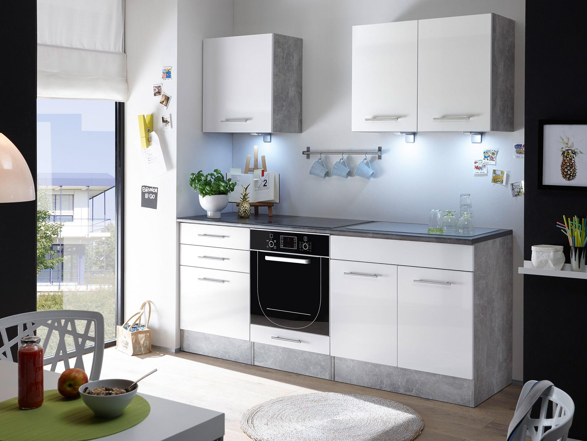 Salito Mini Küche Dekor Beton Weiß Kleine Küche Ideal Ausgenutzt Kücheneinrichtung Küchenmöbel Einbauküche Küchen Möbel Moderne Küche