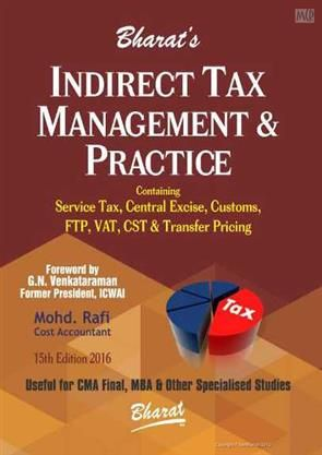 Buy Indirect Tax Management Practice Books Indirect Tax Management Practice For Cma Final 15th E Professional Books Buying Books Online Online Bookstore