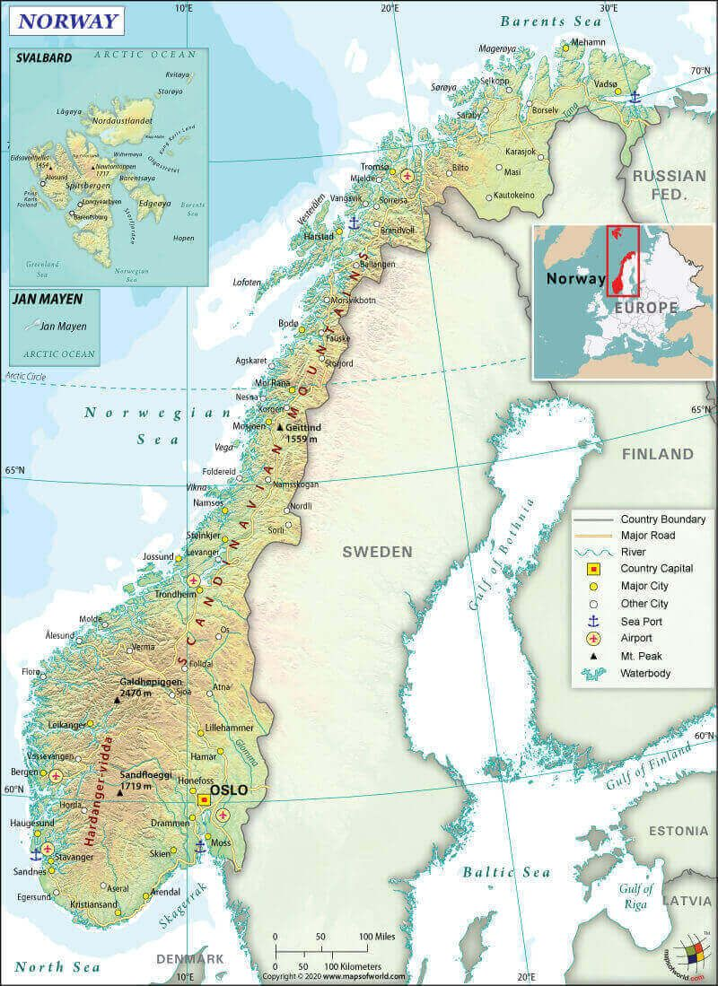 What Are The Key Facts Of Norway World Map Europe Europe Map World Geography