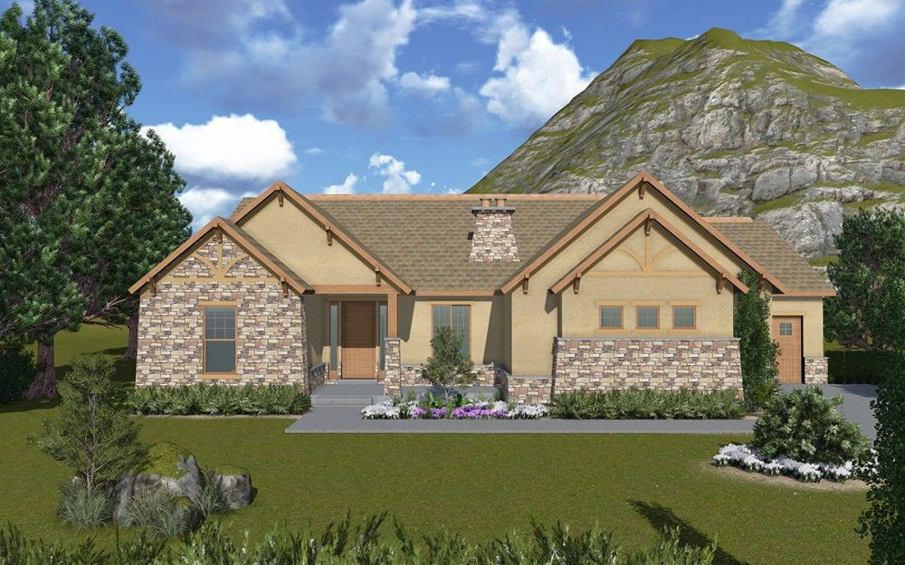 Bluffdale - A Mountain Rustic style rambler house plan ... on 3 story home designs, coastal home designs, traditional ranch home designs, single story home designs, country home designs, 2015 home designs, unusual home designs, 1969 home designs, geo home designs, southwest adobe home designs, farmhouse home designs, carriage house home designs, lakeside home designs, nigerian home designs, rambler house plans and designs, 1959 house designs, affordable home designs, small rambler designs, popular home designs, stylish eve home designs,