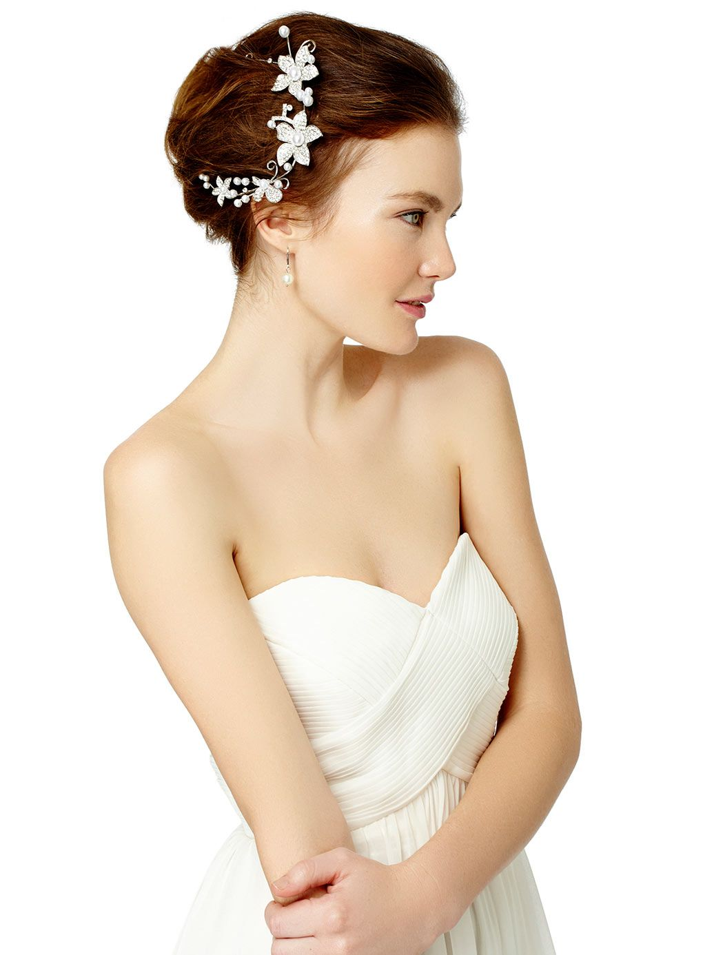 silver lily flower tiara http://www.weddingheart.co.uk/bhs