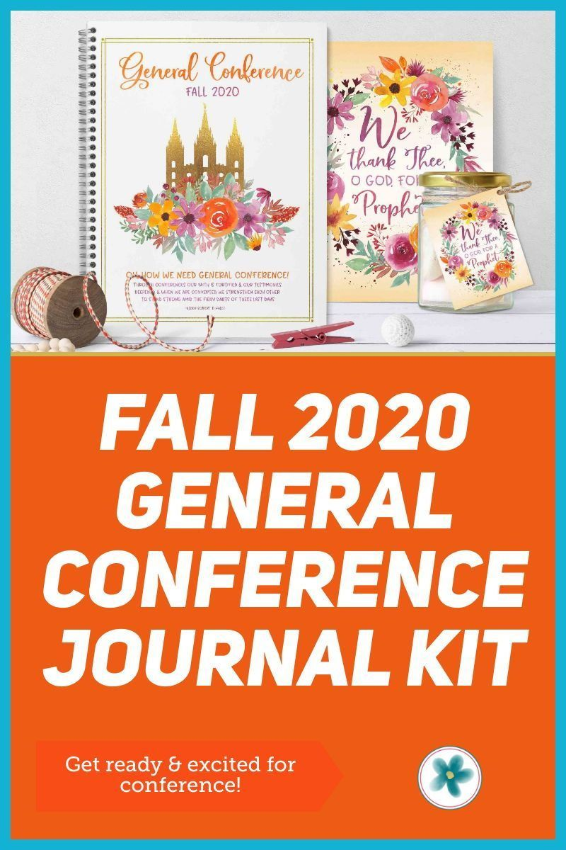 Fall October 2020 General Conference Journal Kit In 2020 Lds General Conference Quotes Lds General Conference Activities General Conference Activities