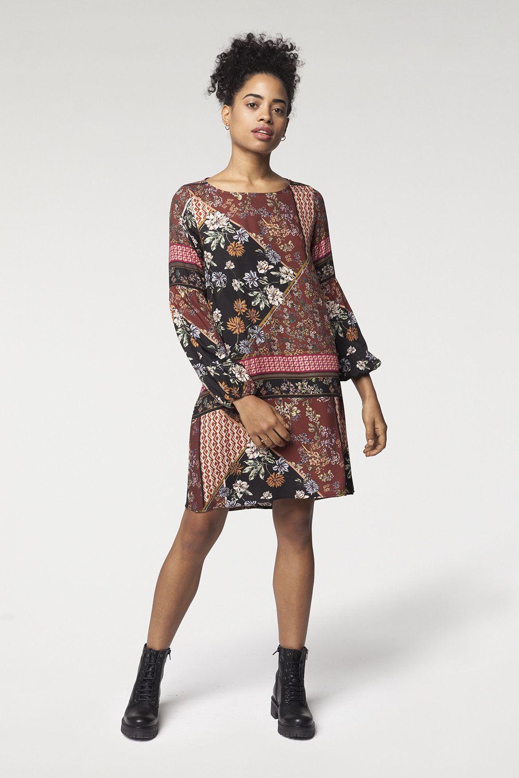 9f74106dd Vestido patchwork | New Collection - The Origin | Peplum Dress ...
