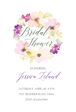 lovely loop free bridal shower invitation template greetings island