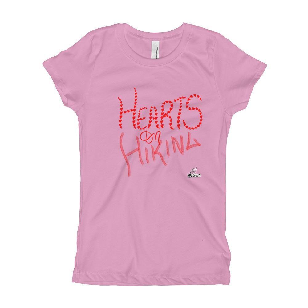 Hearts on Hiking- Girl's T-Shirt