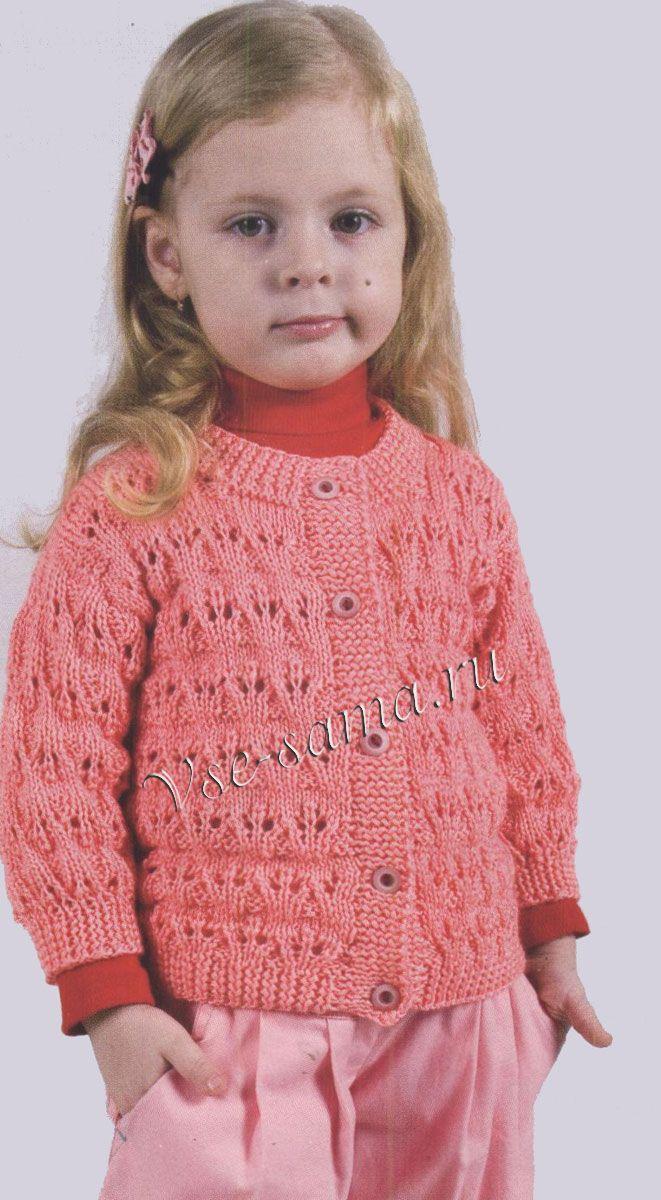 Ажурные платья детские спицами