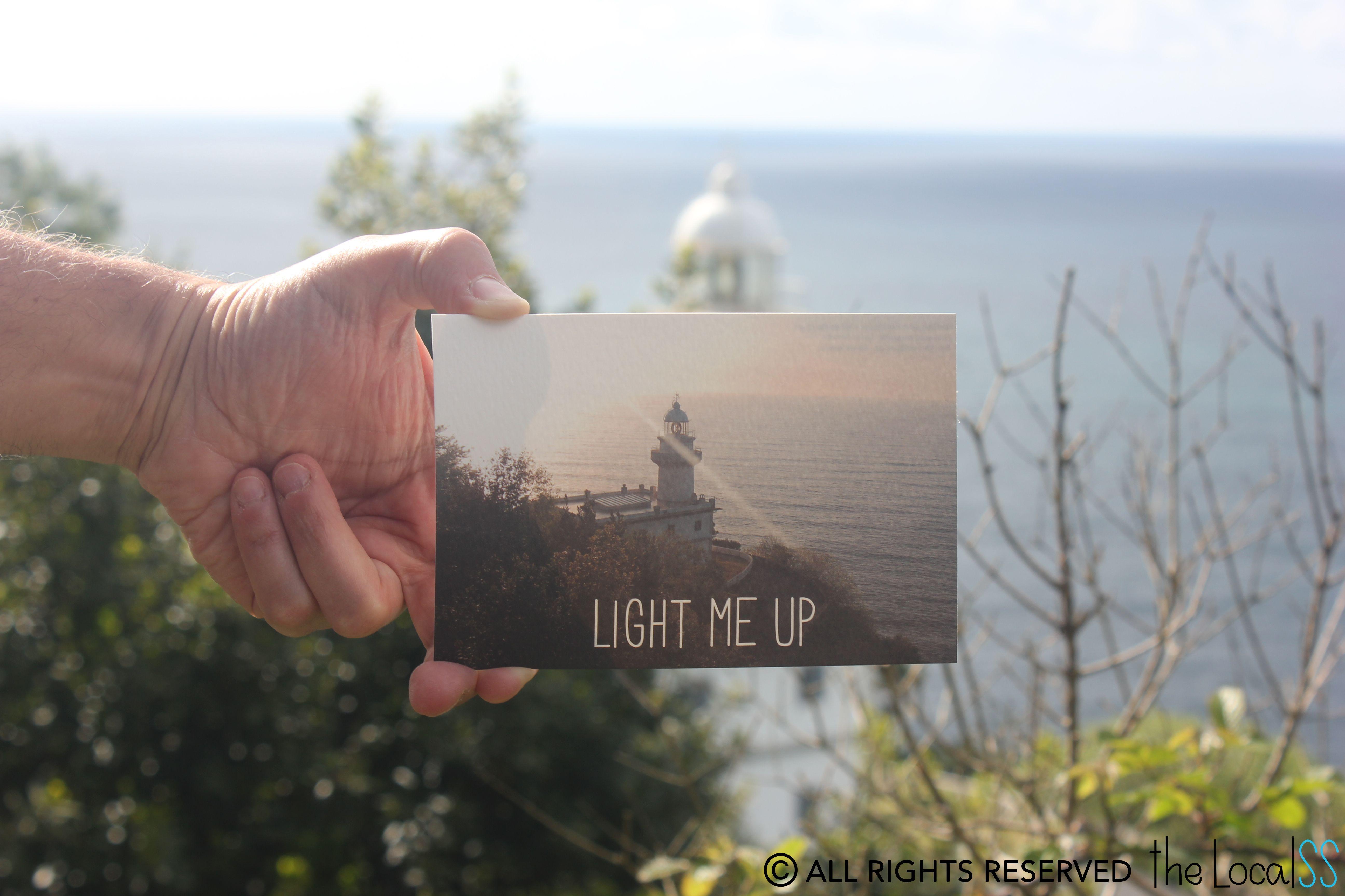 TheLocalSS - Postales - San Sebastian Lighthouse - Igeldo Mountain Donostiko Itsasargia - Igeldo Mendia Faro de San Sebastián - Monte Igeldo