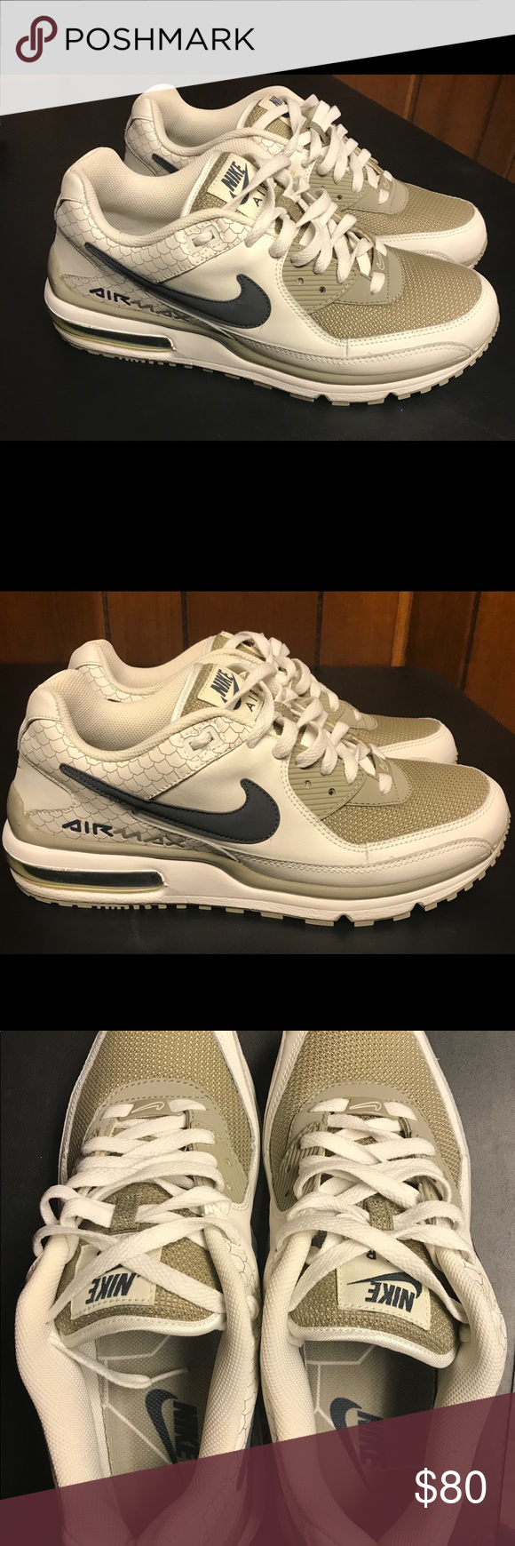 official photos c7d72 2b035 🔥Men s Nike Air Max Wright 9.5🔥 🔥Nike Air Max Wright 9.5. Swan Grit- Classic. Excellent Condition! No discoloring. Pictures show the awesome  condition.
