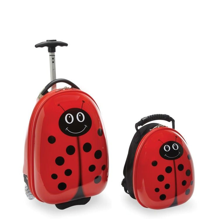 TrendyKid Travel Buddies Lady Bug 2 Piece Set TB103   Luggage Pros