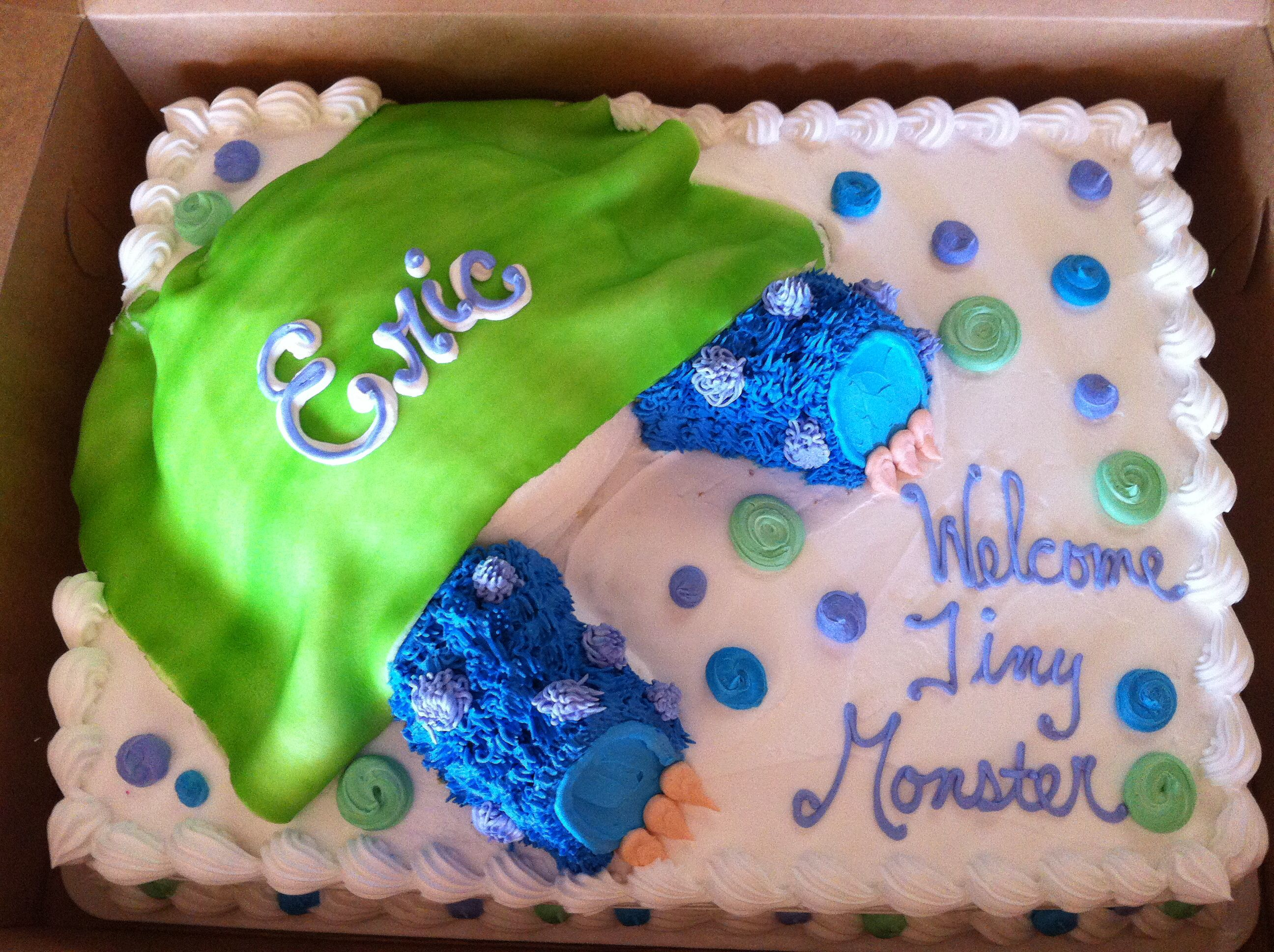 Monsters Inc baby shower cake!!!