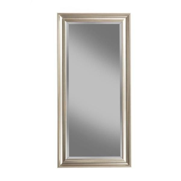 Champagne Silver Full Length Leaner Floor Mirror 14011 The Home