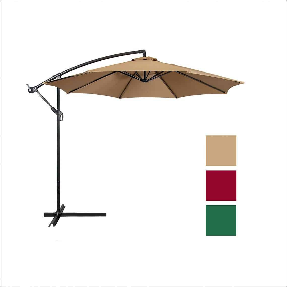Best Choice Products Offset 10 Inch Hanging Outdoor Patio Umbrella Patio Patio Umbrellas Offset Patio Umbrella