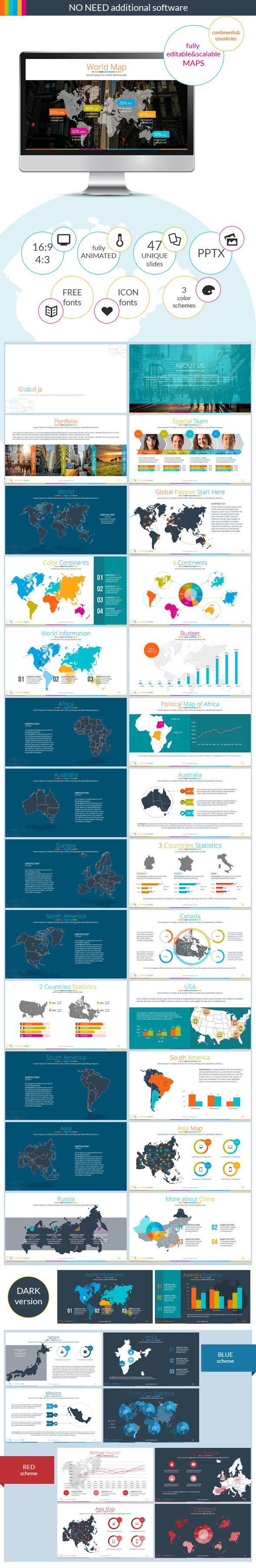 ContinentsuCountries PowerPoint Presentation Powerpoint