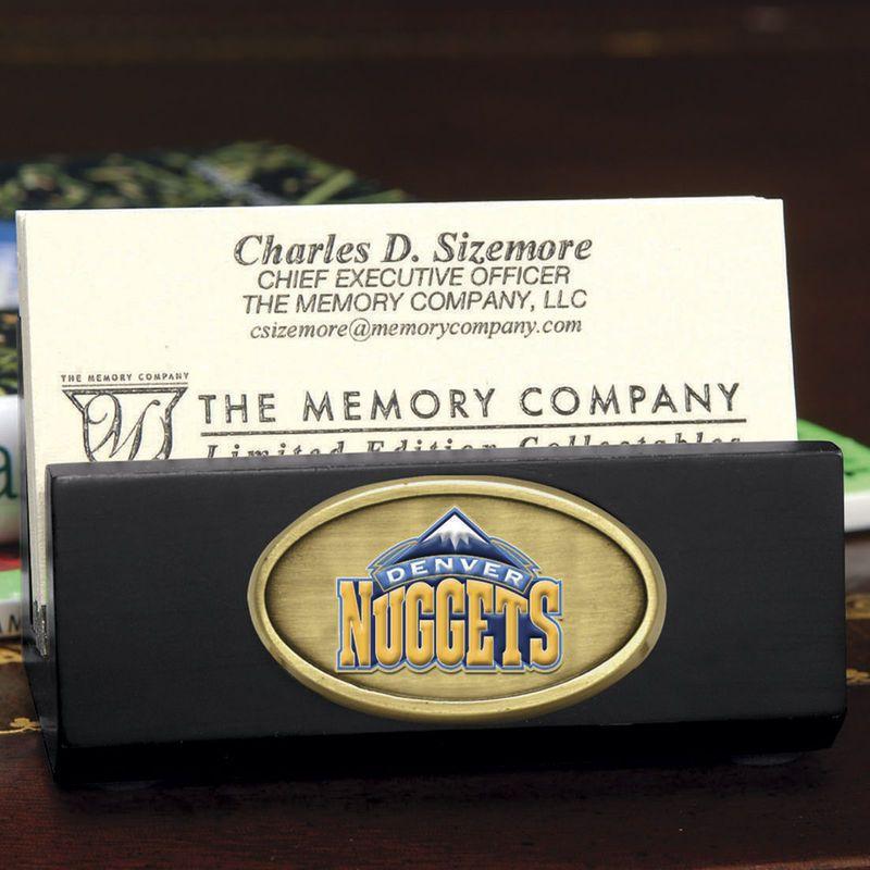 Denver Nuggets Business Card Holder - Black | Denver, Business card ...