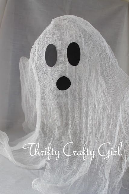 Thrifty Crafty Girl 31 Days of Halloween - Cheesecloth Ghost If - halloween ghost decor
