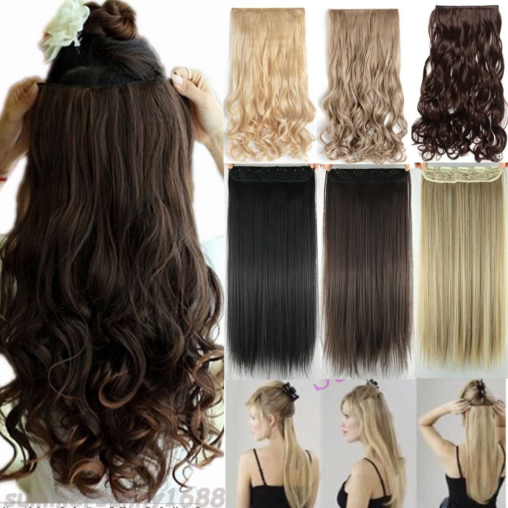 As Real Thick 200g Clip In Full Head Hair Extensions Extension As