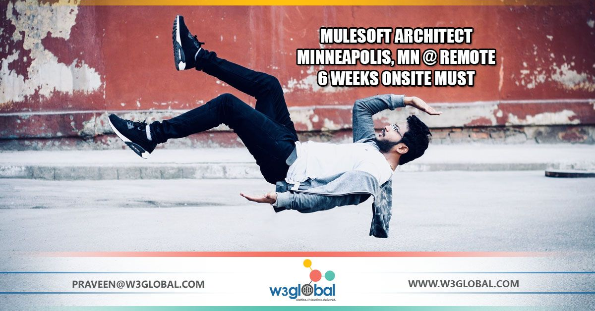 We are Hiring Mulesoft Architect opening, Apply today