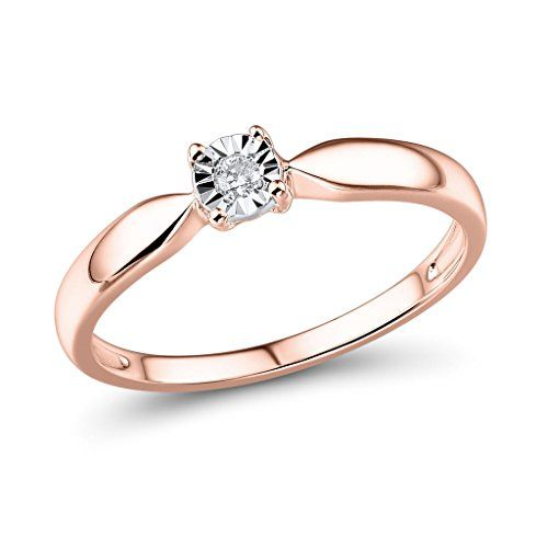 Diamond Promise Ring In 10k Rose Gold And Rhodium Plated 10k White Gold Gold Diamond Wedding Band Diamond Promise Aquamarine Engagement Ring