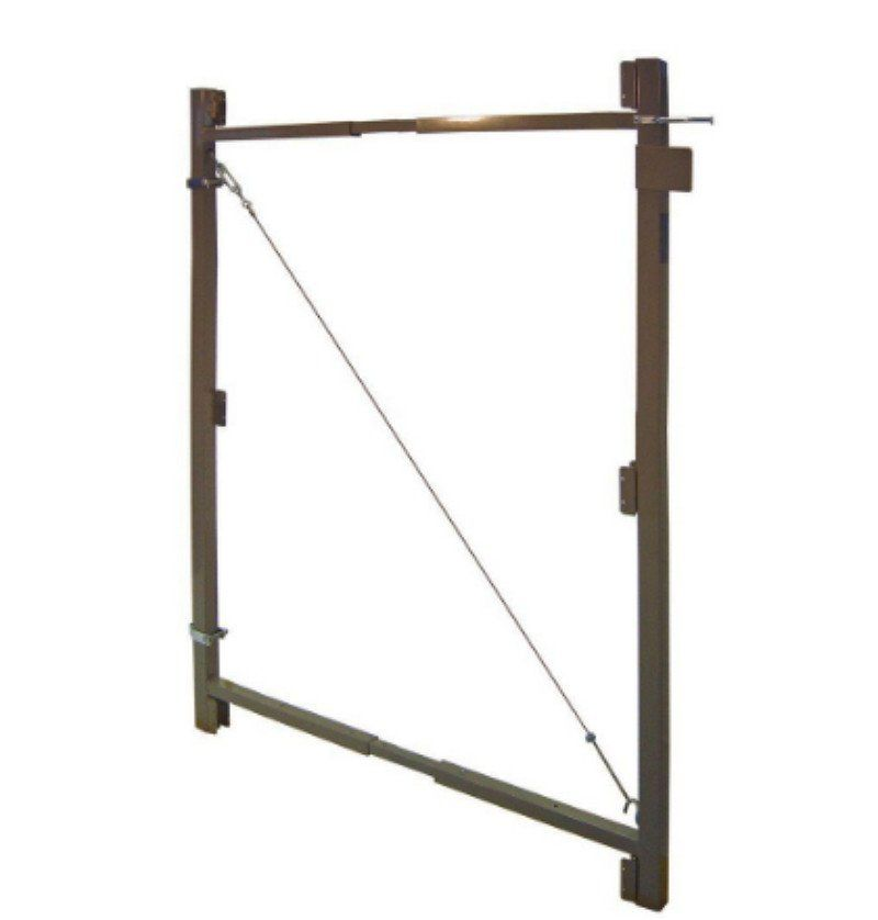 Adjust-A-Gate Contractor Series 60 In.-96 In. Steel Gate Frame Kit ...
