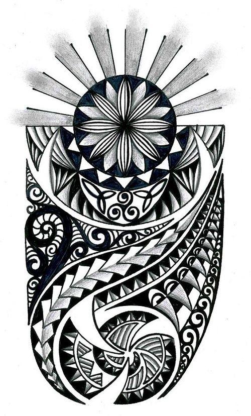plantillastatuajespolinesiosmaoriesamoano tattos Pinterest