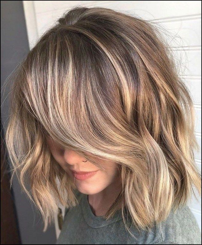 145 Ideas For Light Brown Hair With Highlights And Lowlights Page 34 Textured Haircut Hair Styles Brown Hair With Blonde Highlights
