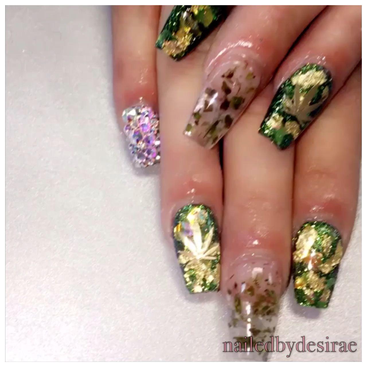 Weed nails acrylic nails nail art nail design clawsss weed nails acrylic nails nail art nail design prinsesfo Image collections
