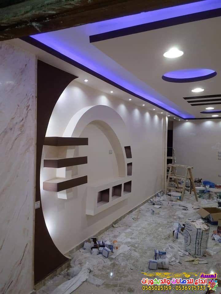 احدث ديكورات شاشات بلازما جبس بورد بجده 2019 Ceiling Design House Ceiling Design Ceiling Design Modern